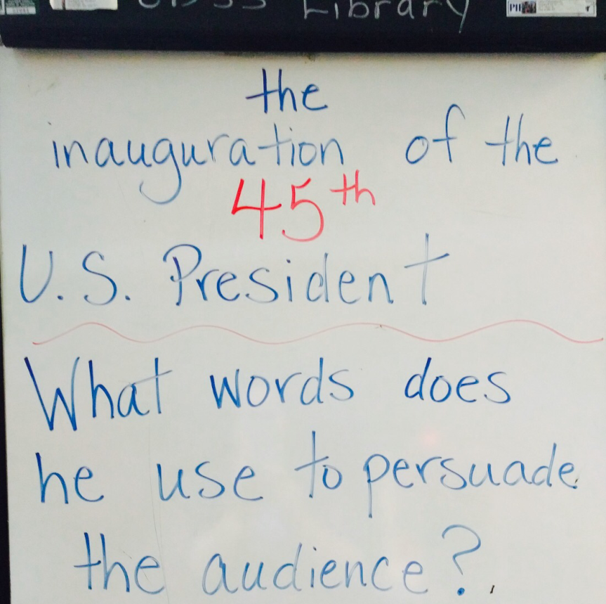 The inauguration in my school library learning commons